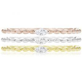 Morellato Sada tří vrstvených prstenů Tricolor SAHA15 (Obvod 54 mm) stříbro 925/1000