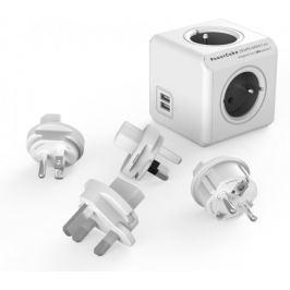 PowerCube ReWirable USB + Travel Plugs, Grey