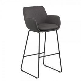 Design Scandinavia Barová židle Sarah (SET 2 ks), tmavě šedá