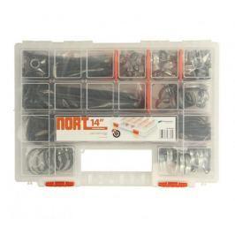 MAMMOOTH Sada stahovacích ocelových svorek a plastových pásků, 365 ks, v plastovém kufříku
