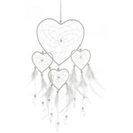 Kaemingk Lapač snů srdce 40 cm, bílá