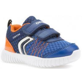 Geox chlapecké tenisky Waviness 20 modrá/oranžová