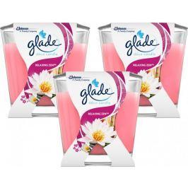 Glade Pack Svíčka Decor Japonská zahrada 3x 70 g