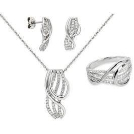 Silver Cat Souprava šperků s pravou perlou + řetízek zdarma (Obvod 54 mm) stříbro 925/1000