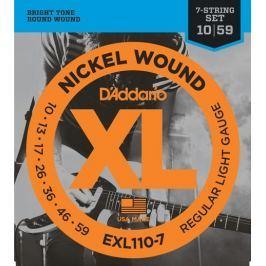 Daddario EXL110-7 Struny pro sedmistrunnou elektrickou kytaru