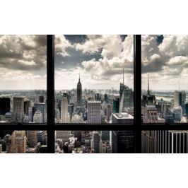Postershop Fotoobraz Okno do New Yorku 81x51 cm