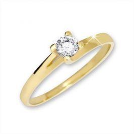 Brilio Zlatý zásnubní prsten 223 001 00090 - 1,65 g (Obvod 58 mm) zlato žluté 585/1000