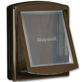 Staywell dvířka s transparentním flapem, velká, hnědá - II. jakost