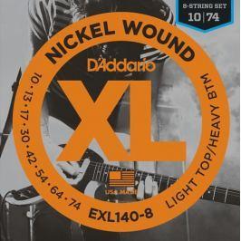 Daddario EXL140-8 Struny pro osmistrunnou elektrickou kytaru