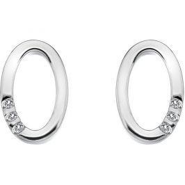 Hot Diamonds Náušnice Halo Oval DE418 stříbro 925/1000