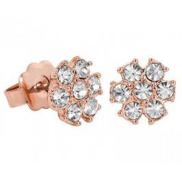 Guess Růžově pozlacené náušnice s krystaly UBE21543