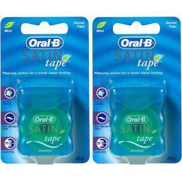 Oral-B Dentální páska Satin Tape Mint 2x 25 m