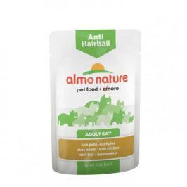 Almo Nature Functional WET Anti-Hairball - kuře 12 x 70 g