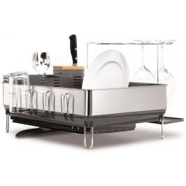 Simplehuman Odkapávač na nádobí, ocel/černá - II. jakost