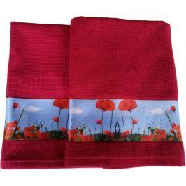 Framsohn Set kuchyňského ručníku a utěrky, Poppy Field