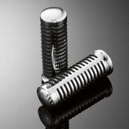 Highway-Hawk gripy 22mm  CLASSIC, chrom/černá (2ks)