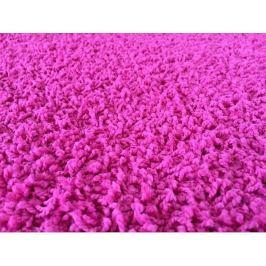 Kusový koberec Color Shaggy růžový, průměr 80 cm