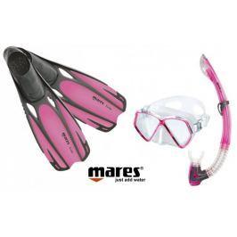 Mares Sada PIRAT maska, šnorchl s ploutvemi 34/35 růžová