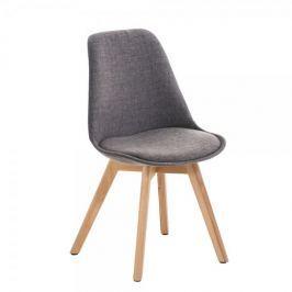 BHM Germany Jídelní / jednací židle Lenora textil (SET 2 ks), šedá
