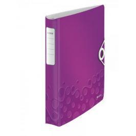 Mobilní kroužkový pořadač 4xD kroužky Leitz ACTIVE WOW 5,2 cm purpurový
