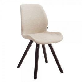 BHM Germany Jídelní / jednací židle Peru, cappuccino, kůže, krémová
