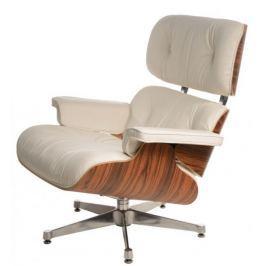 Mørtens Furniture Designové otočné křeslo Easy, bílá/palisandr