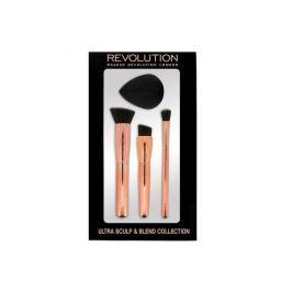 Makeup Revolution Metalická kolekce štětců Sculpt & Blend (Ultra Collection)