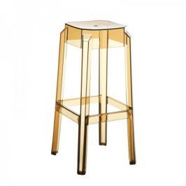 BHM Germany Barová židle Logre transparentní, jantarová