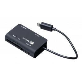Connect IT OTG čtečka a USB hub s MicroUSB