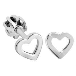 Brilio Silver Stříbrné srdíčkové náušnice 431 001 01372 04 - 0,72 g stříbro 925/1000