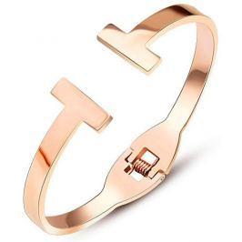 Troli Luxusní růžově pozlacený náramek pro ženy