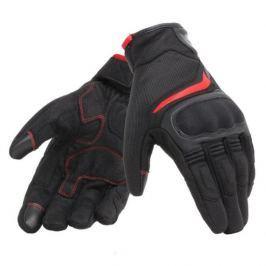 Dainese rukavice AIR MASTER vel.XS Unisex, černá/červená, textil/kůže, letní