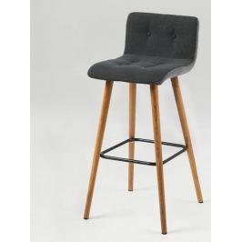 Design Scandinavia Barová židle Fredy (SET 2 ks), tm. šedá