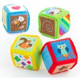 Teddies BABY Kostky textilní 4ks v krabici