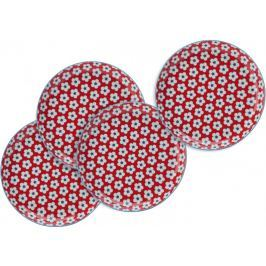 Maxwell & Williams Cotton Bud Mělké talíře 23 cm červené 4 ks