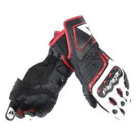 Dainese rukavice CARBON D1 LONG vel.S černá/bílá/červená (láva), kůže (pár)