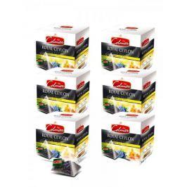 Celmar Royal Ceylon English tea černý čaj, 20 pyramidových sáčků. 6 balení