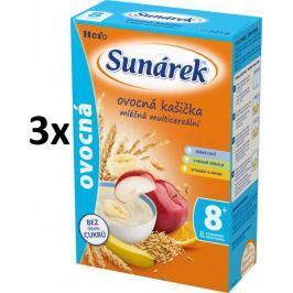 Sunárek Ovocná kašička mléčná, 3x225g