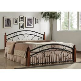 PARRIS, postel 180x200 s roštem, masiv/kov, třešeň antická