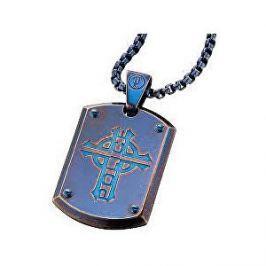 Police Modrý pánský náhrdelník Prowler PJ25607PSEBL-C