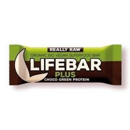 Lifefood Lifebar Plus - čokoládová s konopným proteinem RAW/BIO (47 g)