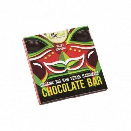 Lifefood Čokoláda s ořechy a třešněmi RAW & BIO (35 g)
