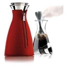 Eva Solo CafeSolo, skleněná nádoba na přípravu kávy 1 l, červený neopren