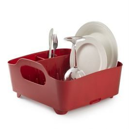Umbra Odkapávač na nádobí Tub, červený