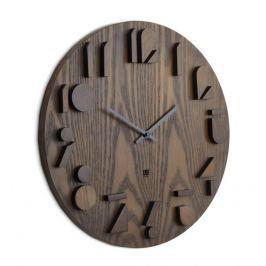 Nástěnné hodiny Umbra SHADOW - ořechové