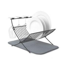 Odkapávač na nádobí s podložkou Umbra XDRY - šedý