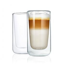 Termosklenička na café latte Blomus NERO, 2 ks
