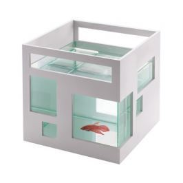 Akvárium pro rybičky Umbra FISHHOTEL - bílé