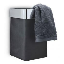 Nástěnný košík na prádlo/ručník Blomus NEXIO - šedý lesklý