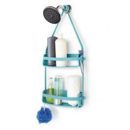 Závěsná polička do sprchového koutu Umbra FLEX - tyrkysová